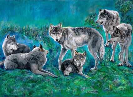 Wolf Family Great Bear Rainforest